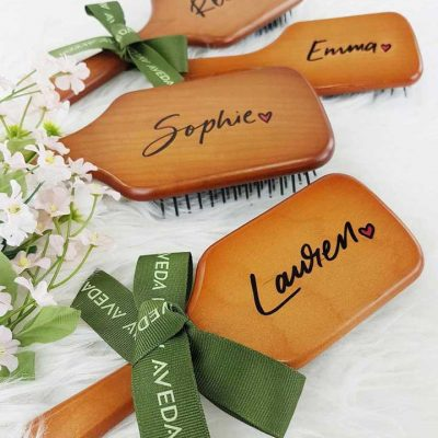 Aveda - Mother's Day - Calligraphy on paddle brushes