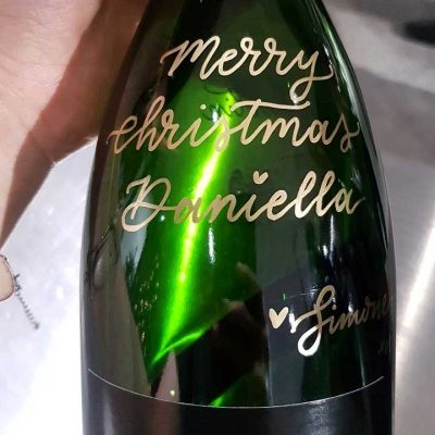 David Jones - Christmas - Personalised champagne bottles