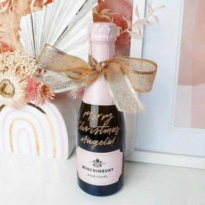 Minchinbury Rosé Cuvée Wine Bottle - Personalised engraving filled in gold ink