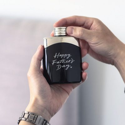 Engraving on Montblanc Fragrance Bottles for Father's Day