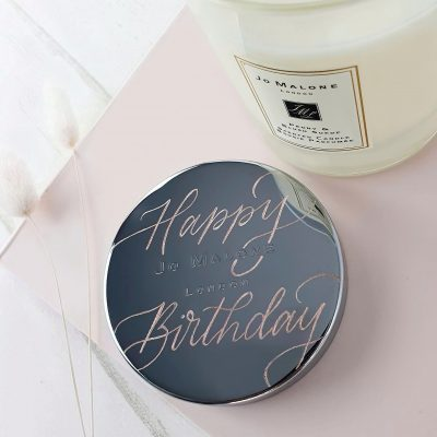 Jo Malone London Candle - Customised calligraphy engraving on metal lid
