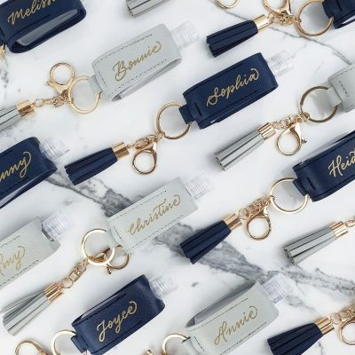 Creative Projects - Calligraphy on Hand Sanitiser Pouches