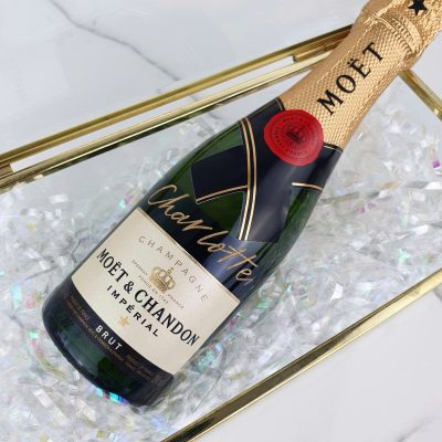 Moët & Chandon Champagne Bottle - Personalised calligraphy in gold ink