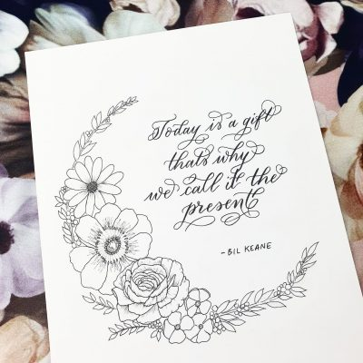 Creative Projects - Modern Calligraphy Artwork